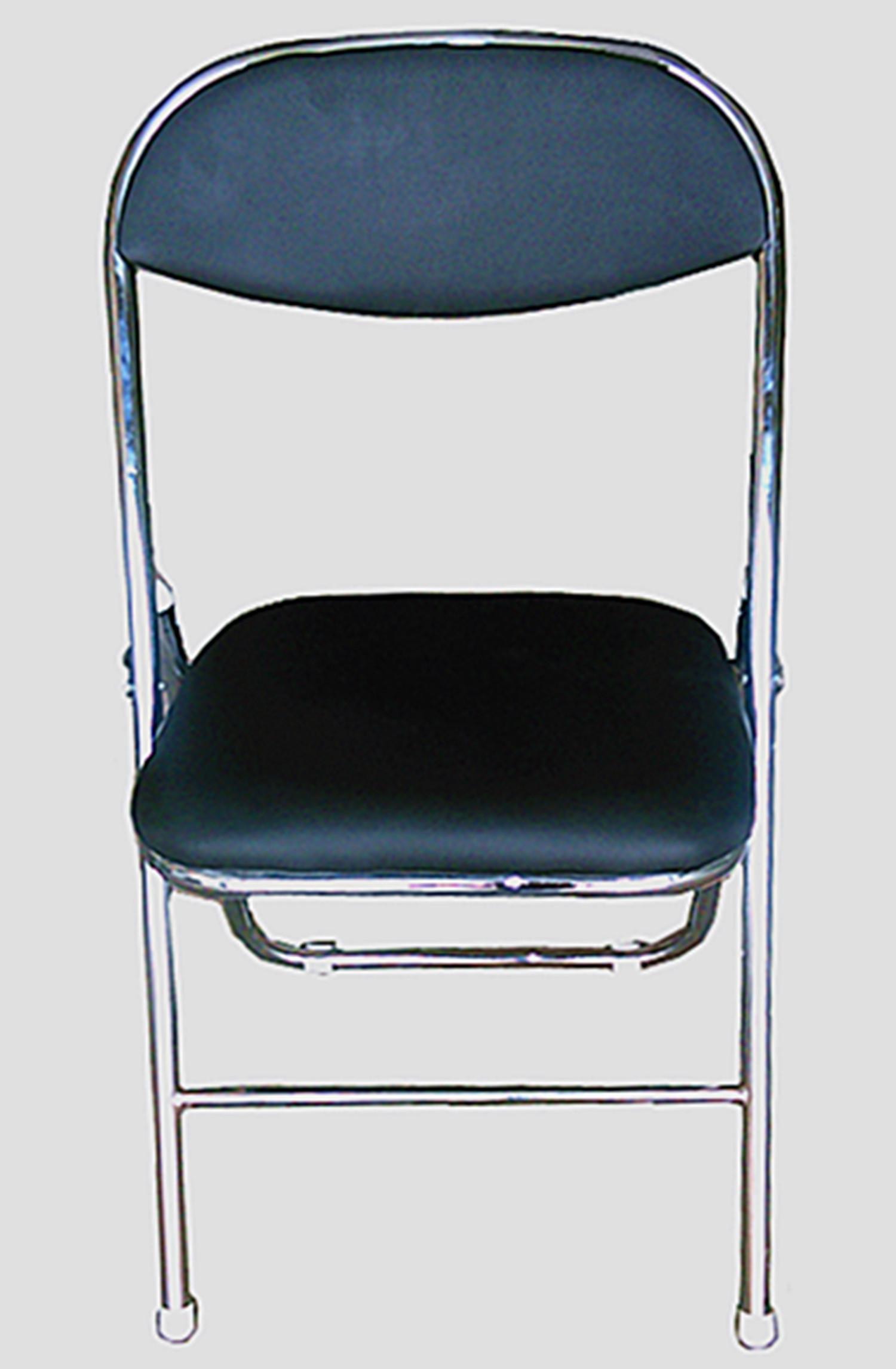 black padded chrome framed folding chair melbourne table. Black Bedroom Furniture Sets. Home Design Ideas