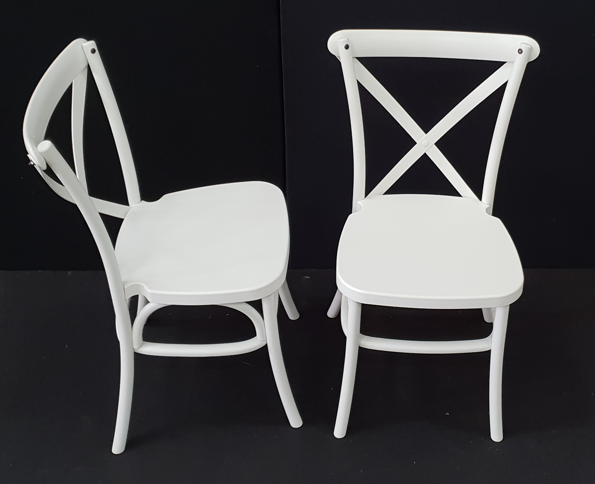 White Cross Back Chairs Melbourne Table Amp Chair Hire